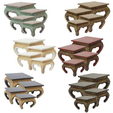 Opiumtisch Tisch Beistelltisch Massiv Holz Couchtisch Nachttisch Shishatisch – Bild 1