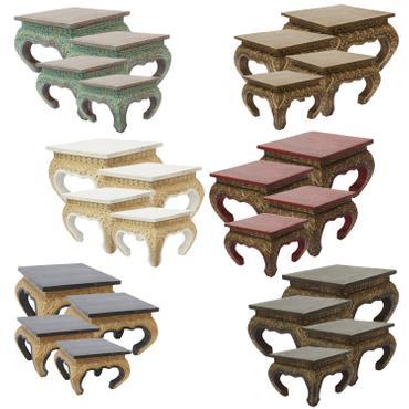Opiumtisch Tisch Beistelltisch Massiv Holz Couchtisch Nachttisch Shishatisch