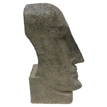 Osterinsel Moai Figur Skulptur Stein Lavasand Bali Tiki Garten Deko 59cm – Bild 3
