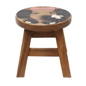 Kinderhocker Elefant Hocker Rundhocker Holzhocker Sitz Kinder Stuhl ca. 25cm Durchmesser & Höhe ca. 1,5 kg Braun Holzfarben Natur Limboholz Holz  – Bild 3