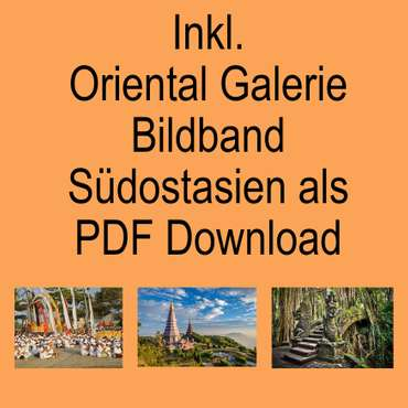 Kopfkissen Nackenkissen Thaikissen Kissen Kapokkissen Thai-Motiv ca. 35 x 19 x 13 cm Baumwolle Kapok Türkis Grau KB1 – Bild 7