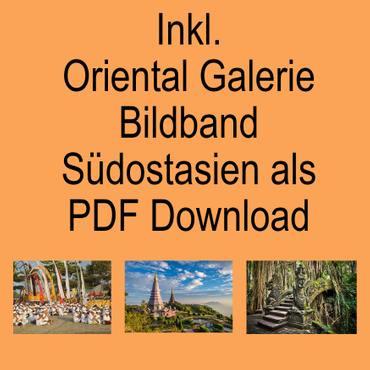 Thaikissen Nackenkissen Kopfkissen Kissen Kapokkissen Thai-Motiv ca. 35 x 19 x 13 cm Baumwolle Kapok Braun Grün KB4 – Bild 7