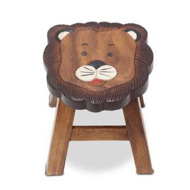Kinderhocker Löwe (1) Hocker Rundhocker Holzhocker Sitz Kinder Stuhl ca. 25cm Durchmesser & Höhe ca. 1,5 kg Braun Holzfarben Natur Limboholz Holz