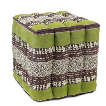 Sitzwürfel Stoffhocker Sitzkissen Bodenkissen Sitzhocker Fußhocker Cube Hocker Würfel Thai Motiv 40 x 40 x 40 cm Baumwolle Kapok – Bild 3