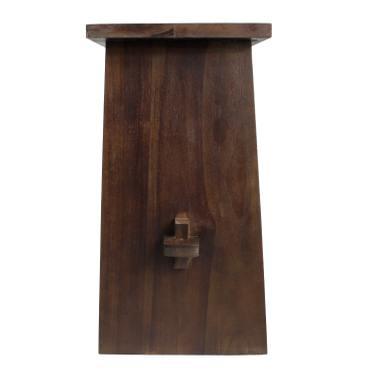 Waschtisch Holz Waschbeckenunterschrank Tisch Badmöbel Badezimmermöbel Teakholz Dunkelbraun 60 cm Breite - B-WARE  – Bild 4