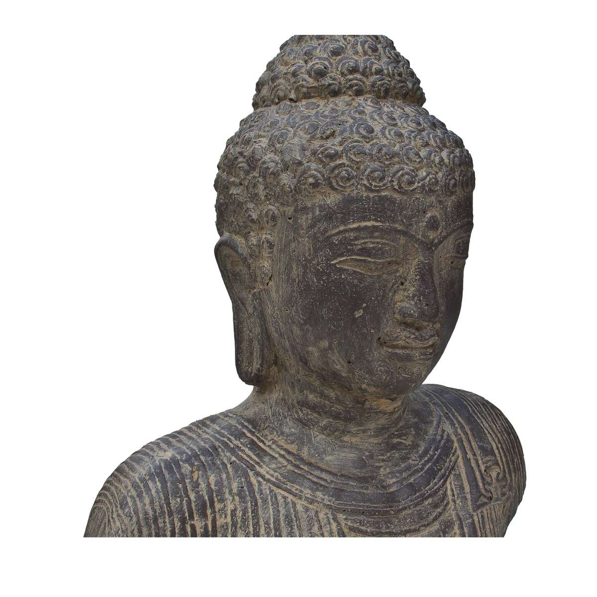 buddha b ste kopf head figur skulptur stein lavasand bali garten deko 40cm. Black Bedroom Furniture Sets. Home Design Ideas