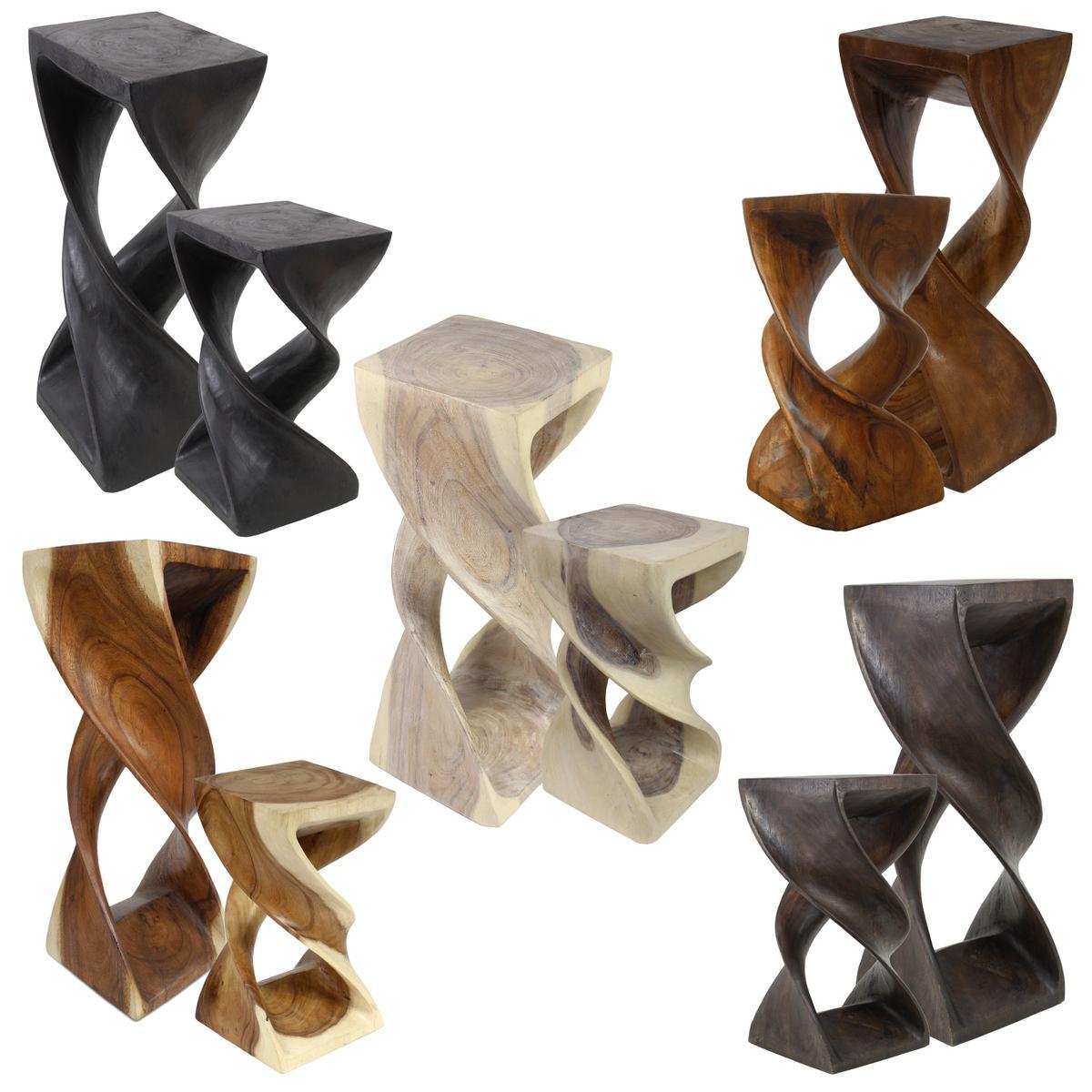 Gewaltig Beistelltisch Holz Galerie Von Hocker Doppelt Gedreht Ständer Säule Podest Holzhocker