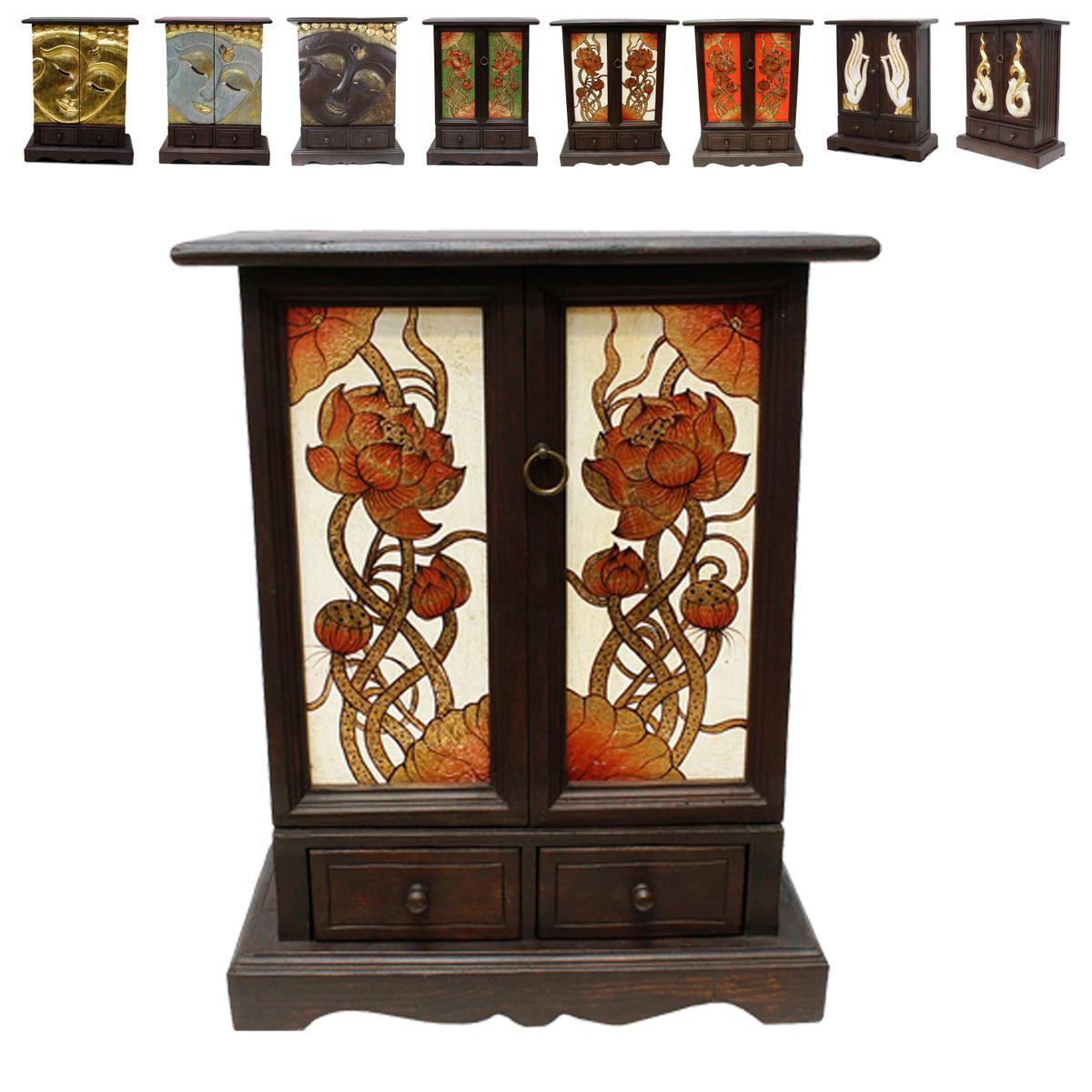 flurschrank wandschrank kommode schubladenschrank holzschrank schrank ca 70 cm hoch akazienholz. Black Bedroom Furniture Sets. Home Design Ideas