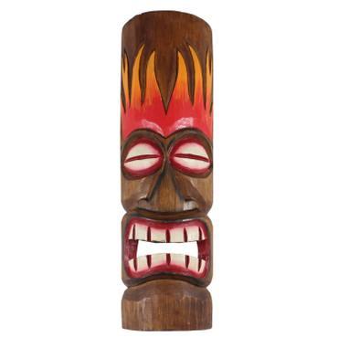 Hawaiianische Maske Hawaiimaske Tikimaske Dekomaske Wandmaske Deko 50cm Holz Tiki – Bild 5