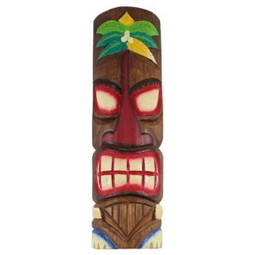 Hawaiianische Maske Hawaiimaske Tikimaske Dekomaske Wandmaske Deko 50cm Holz Tiki – Bild 2