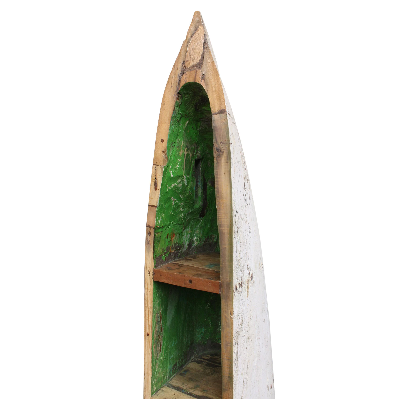 holzregal aus altem fischerboot bootsregal regal teakholz massiv ca 211 cm 100 recyceltes. Black Bedroom Furniture Sets. Home Design Ideas