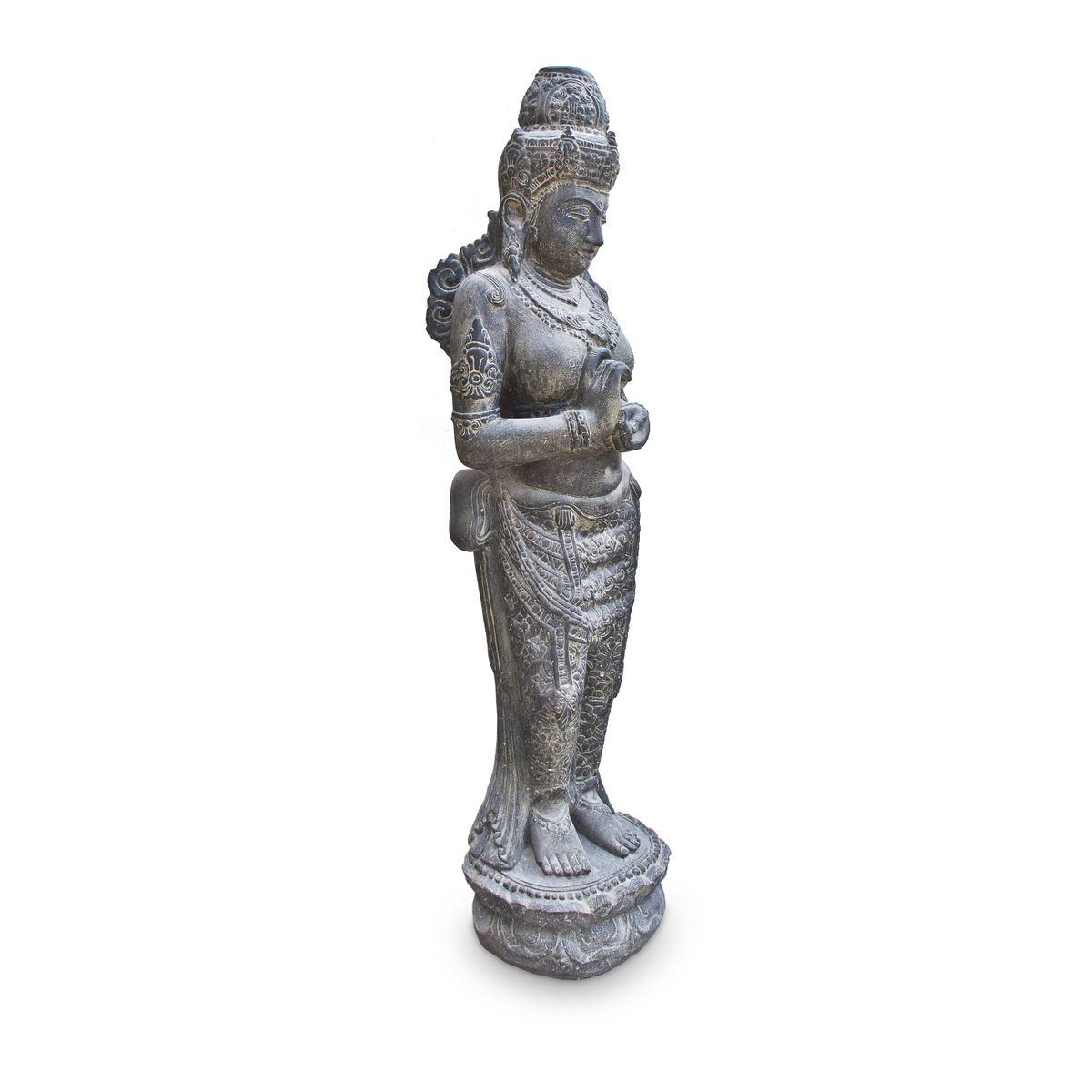Devi Göttin Hinduismus Figur Skulptur Stein Lavasand Bali Gott