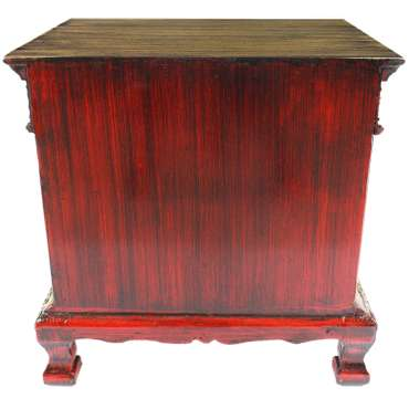 Nachttisch Dielenschrank Beistelltisch Kommode Badschrank Nachtschrank ca. 50 cm Spiegelsteine Blumen Holz Gold – Bild 6