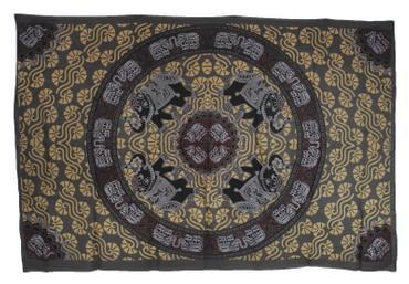 Tagesdecke Wandbehang Tuch Couch Überwurf Decke Elefanten Kreis Singledecke 140 x 210 cm – Bild 7