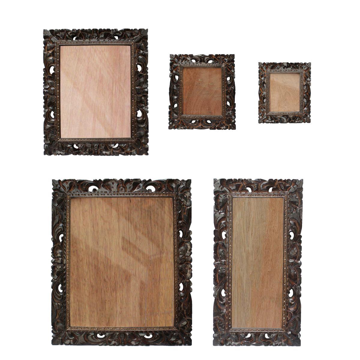 Bilderrahmen aus Holz Foto Rahmen Schnitzerei Wand Deko Glas ...