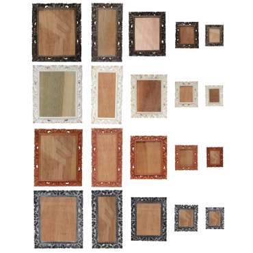 Bilderrahmen aus Holz Foto Rahmen Schnitzerei Wand Deko Glas – Bild 1
