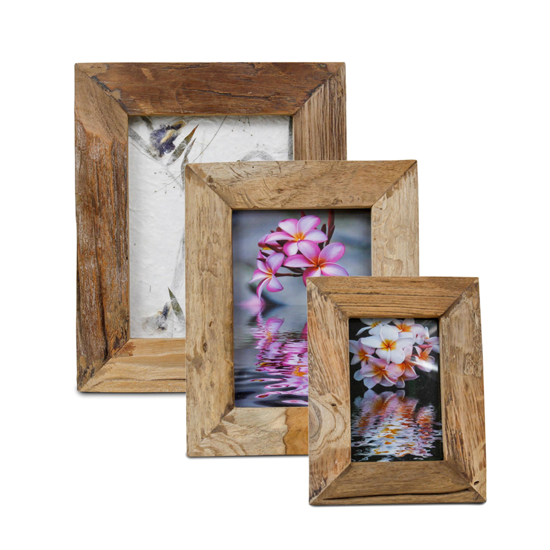 rustikaler bilderrahmen aus holz fotorahmen rahmen landhausstil thailand braun. Black Bedroom Furniture Sets. Home Design Ideas