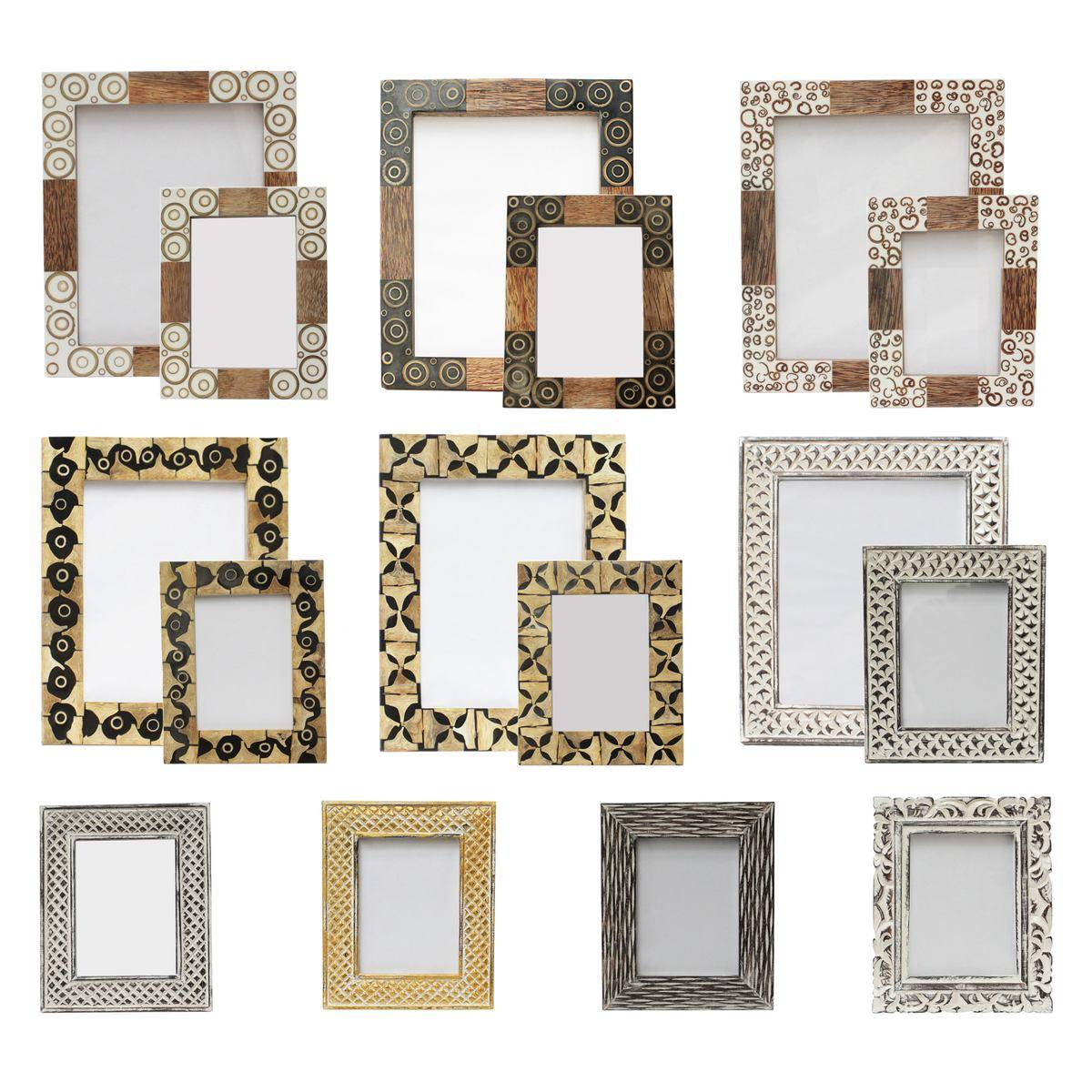 Holzbilderrahmen Fotorahmen Bilderrahmen mit Glas Rahmen aus Kokosholz 13x18 cm oder 20x25 cm