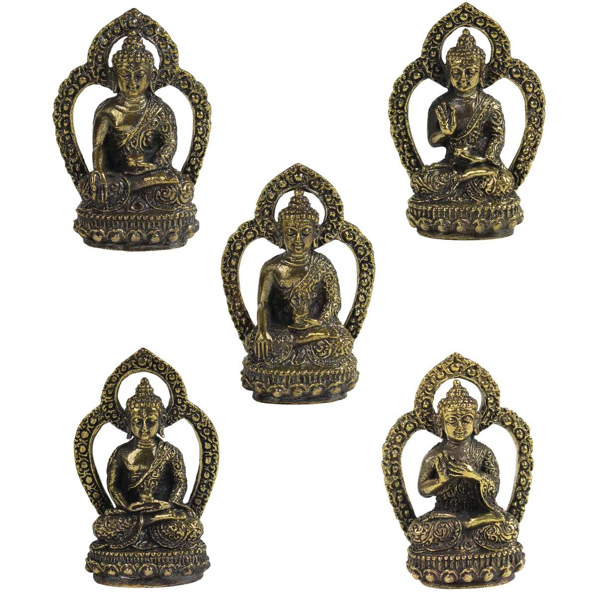 kleiner buddha messing figur messingbuddha messingfigur geschenk talisman gl cksbringer. Black Bedroom Furniture Sets. Home Design Ideas