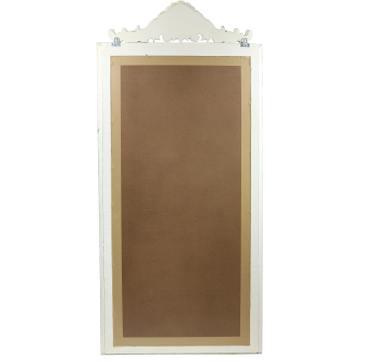 Ankleidespiegel Wandspiegel Spiegel Schminkspiegel Landhaus Holzrahmen ca.182 x 80 cm Shabby Chic Creme Weiß – Bild 5