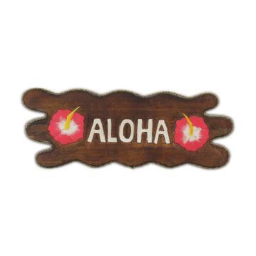 Aloha Türschild Wandschild Deko Holzschild Südsee Hawaii Wandbrett Mottoparty Partykeller große Auswahl – Bild 11
