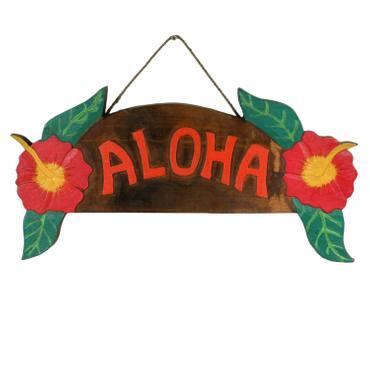 Aloha Türschild Wandschild Deko Holzschild Südsee Hawaii Wandbrett Mottoparty Partykeller große Auswahl – Bild 14