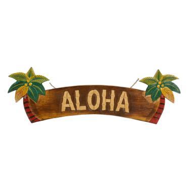 Aloha Türschild Wandschild Deko Holzschild Südsee Hawaii Wandbrett Mottoparty Partykeller große Auswahl – Bild 8