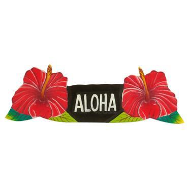 Aloha Türschild Wandschild Deko Holzschild Südsee Hawaii Wandbrett Mottoparty Partykeller große Auswahl – Bild 9