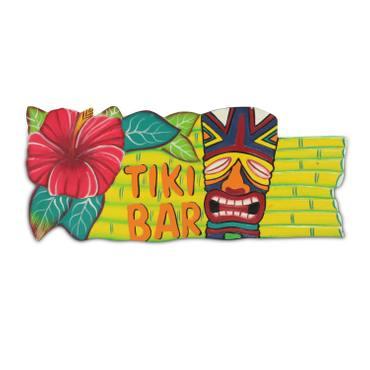 Wandschild Tiki Bar Deko Schild Palmen Hawaii Südsee Strandbar Dekoschild Barschild Holzschild – Bild 4