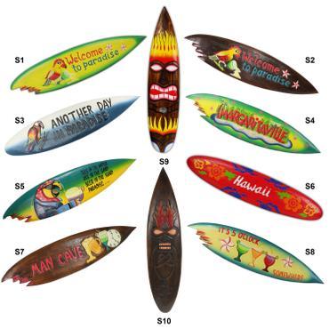 Surfbrett Deko Holzschild Hawaii Wandbrett Brett Bar Party ca. 100 cm 001