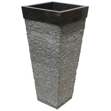 Standwaschbecken Waschsäule Waschbecken Marmor Säule Marmorwaschbecken 90 cm Eckig Schwarz – Bild 2