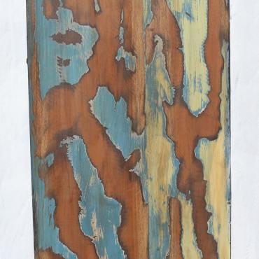 Großes Regal im Shabby Chic Look aus Indonesien ca. 130x40x180 (LBH) Holzregal Bücherregal Wandregal – Bild 9