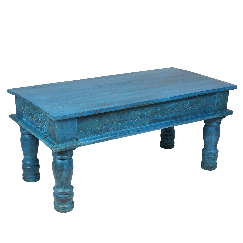 Couchtisch Wohnzimmertisch Holztisch Beistelltisch aus Indien Shabby ...