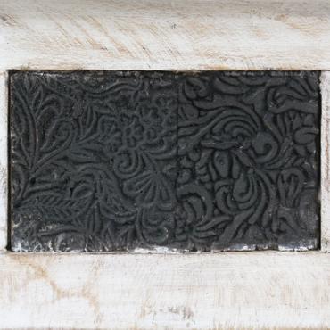 Couchtisch Wohnzimmertisch Holztisch Beistelltisch aus Indien Shabby Chic Whitewash 120 cm S1 – Bild 3