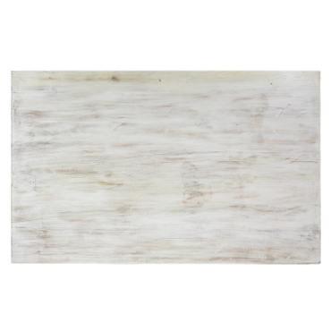Couchtisch Wohnzimmertisch Holztisch Beistelltisch aus Indien Shabby Chic Whitewash 120 cm S1 – Bild 5