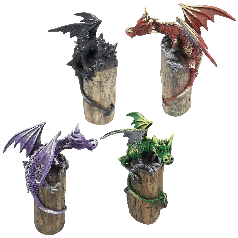 Drache Drachen Figur Skulptur Dragon Mystik Deko Ca 25 Cm