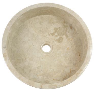 Marmor Waschbecken Stein Becken Basin Bad Waschschale Cream Mosaik Nr. 24 + PopUp Abfluss-Ventil Nr. 1 – Bild 2