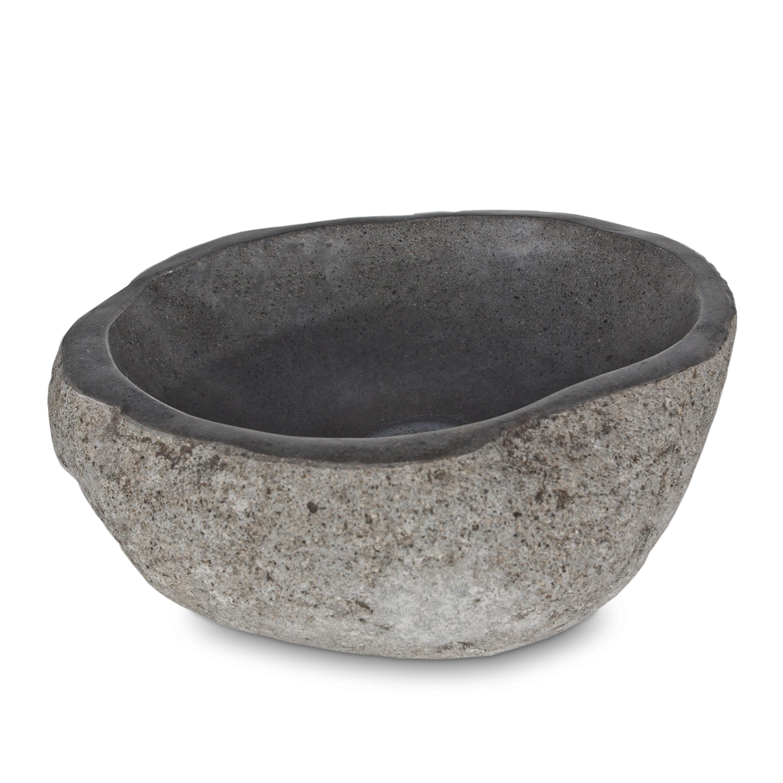 aufsatzwaschbecken waschbecken flusssteinwaschbecken stein. Black Bedroom Furniture Sets. Home Design Ideas