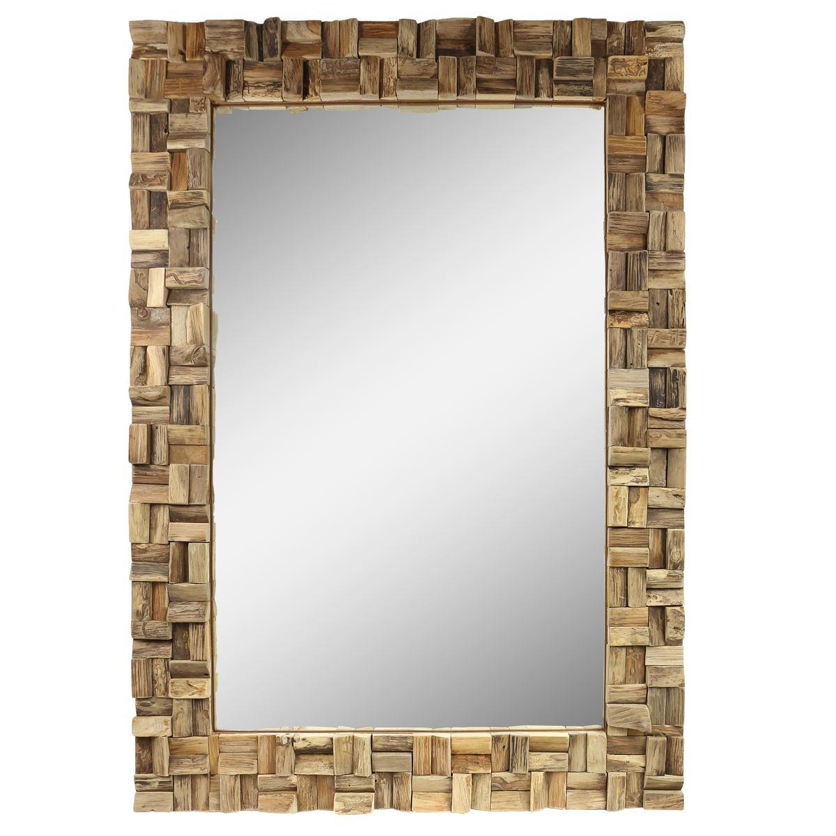spiegel rahmen aus holzst cken thailand massiv holzrahmen wandspiegel holz spiegel ca 70 x 100. Black Bedroom Furniture Sets. Home Design Ideas