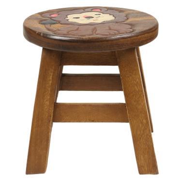 Kinderhocker Löwe (2) Hocker Rundhocker Holzhocker Sitz Kinder Stuhl ca. 25cm Durchmesser & Höhe Braun Holzfarben Natur Limboholz Holz  – Bild 2
