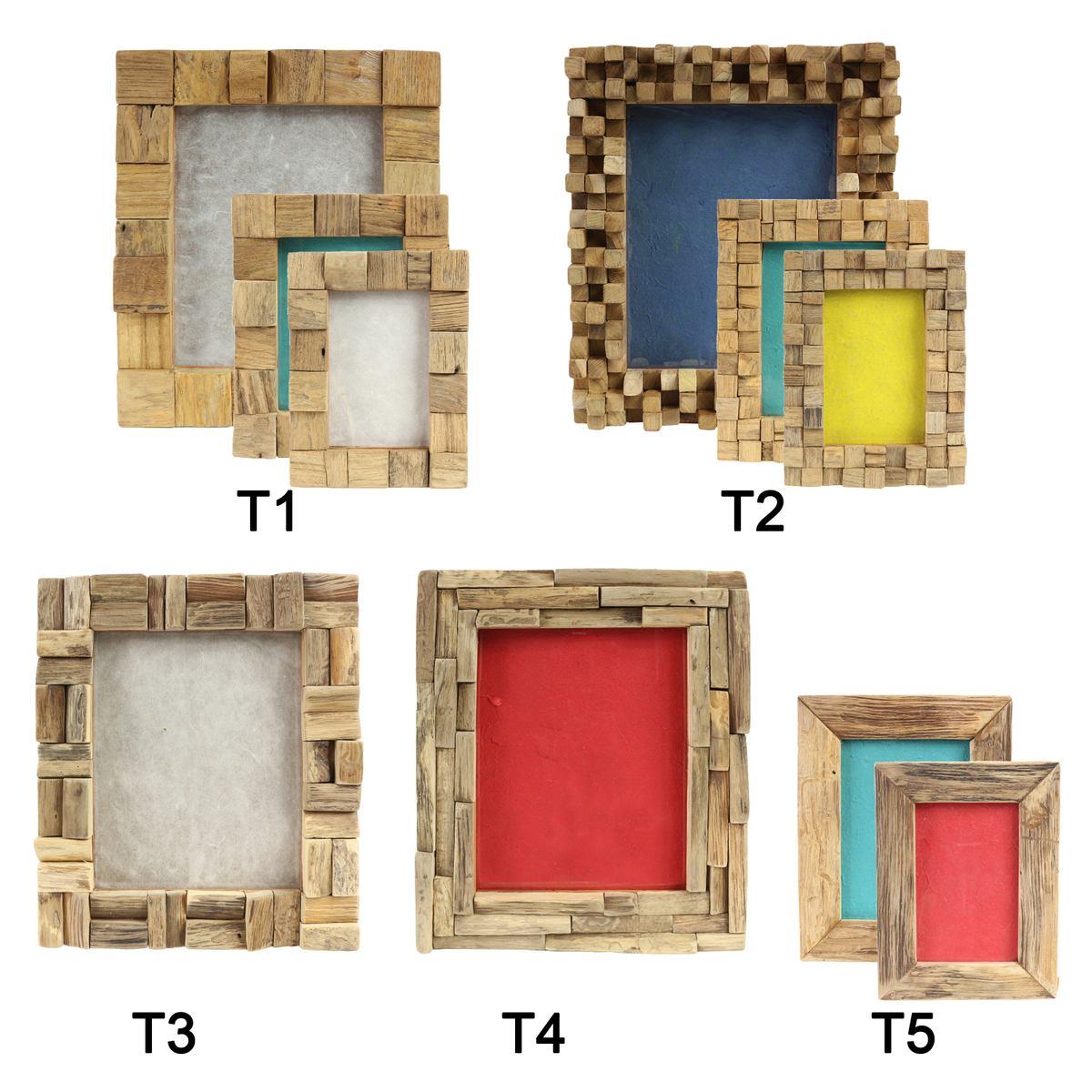 Bilderrahmen aus Holz Thailand Massiv Holz-Rahmen Standrahmen ...