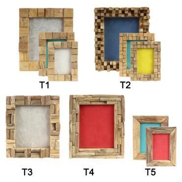 Bilderrahmen aus Holz Thailand Massiv Holz-Rahmen Standrahmen Wandrahmen 20x25 13x18 10x15 001