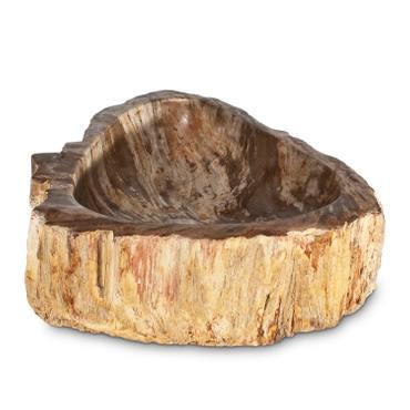 Massives Waschbecken aus versteinertem Holz Steinwaschbecken Fossilbecken Fossil Marmorierung Unikat Nr. 974 – Bild 3