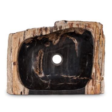 Fossiles Waschbecken versteinertes Holz Naturstein Stein Becken Fossil Marmorierung Unikat Nr. 1000 – Bild 1