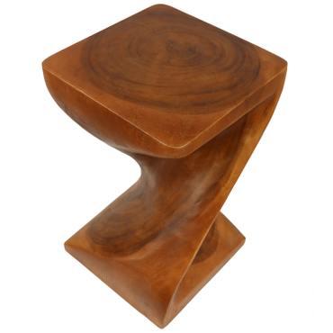 Dekosäule Blumensäule Hocker gedreht Ständer Säule Podest Holzhocker Beistelltisch Holz 50cm Hellbraun – Bild 2