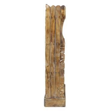Regal Albesiaholz leichtes Bücherregal Standregal Holz Asien Shabby Chic Schnitzerei Braun 118 cm – Bild 4