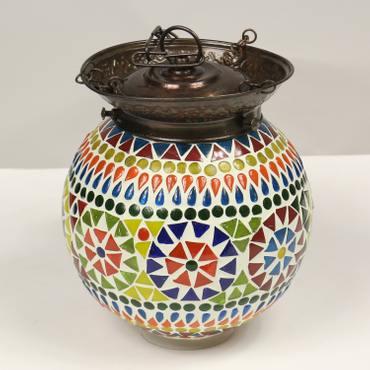 Hänge Mosaik Lampen Rund Orientalisch Dekoleuchte Wandleuchte Laterne Deckenleuchte Bunt Color 14 - 16 cm Ø Nr. 9 – Bild 2