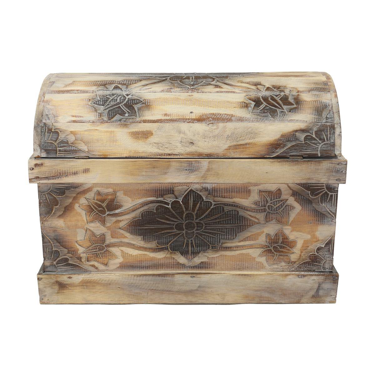 truhe schatztruhe dekotruhe dekokiste box blumen kiste wei shabby chic landhausstil 62 cm. Black Bedroom Furniture Sets. Home Design Ideas
