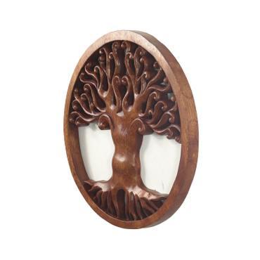 Wandbild Wanddeko Mandala Zeichen Relief Lebensbaum Symbol Mythologie Deko Soar Holz ca. 30 cm Ø – Bild 3