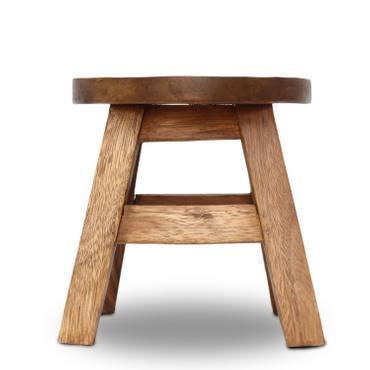 Kinderhocker Löwe (3) Hocker Rundhocker Holzhocker Sitz Kinder Stuhl ca. 25cm Durchmesser & Höhe Braun Holzfarben Natur Limboholz Holz  – Bild 2